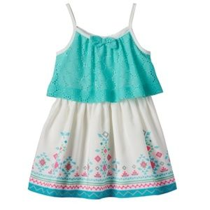 Youngland Girls Little Crochet Knit Dress~ 3T